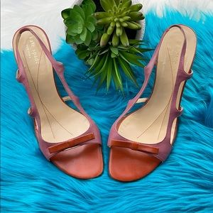 Kate Spade Slingback Leather Pump with Bow